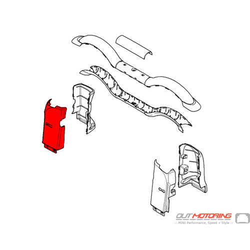 51437309038 MINI Cooper Replacement Rollover Bar Trim