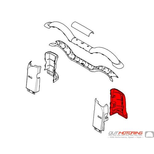 51437309039 MINI Cooper Replacement Rollover Bar Trim