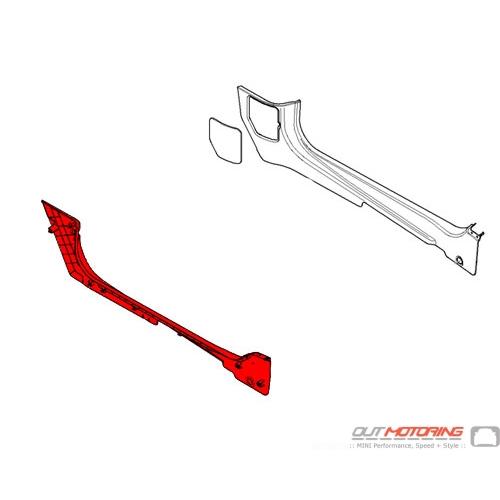 51432758177 MINI Cooper Replacement Cover: Lateral Trim