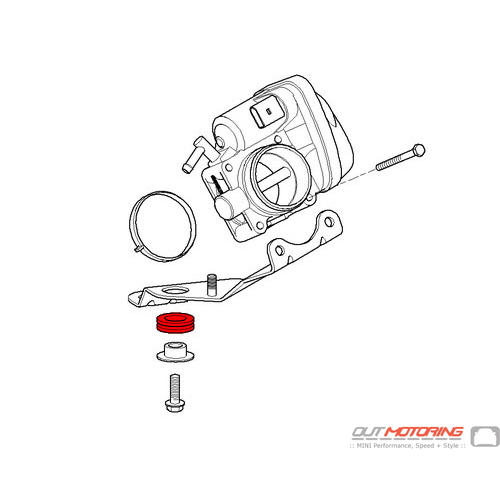 13547515360 MINI Cooper Replacement Grommet Throttle