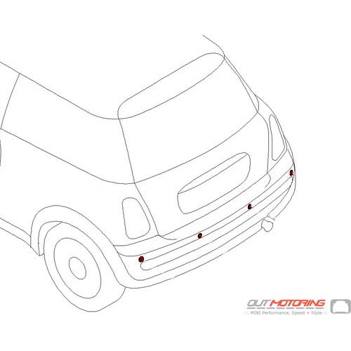 66200440239 MINI Cooper Replacement Installation Kit: Park