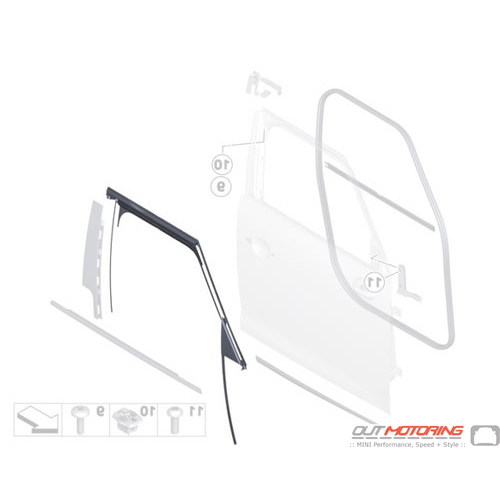 51339800548 MINI Cooper Replacements Window Guide Front