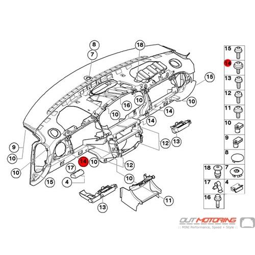 51451513635 MINI Cooper Replacement Self-tapping Screw