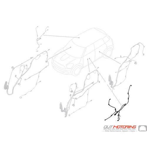 61129360356 MINI Cooper Replacement Door Wiring: Front