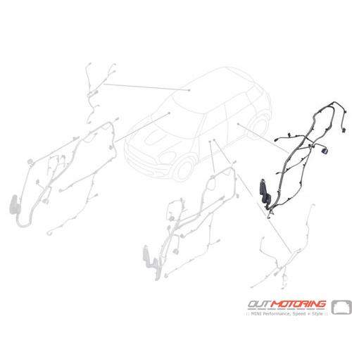 61129811264 MINI Cooper Replacement Door Wiring: Rear