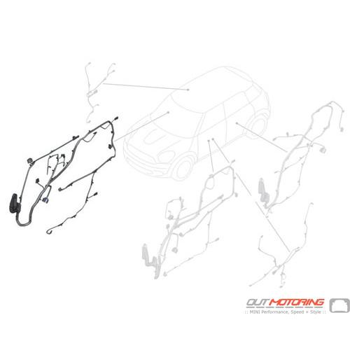 61129811261 MINI Cooper Replacement Door Wiring: Passenger