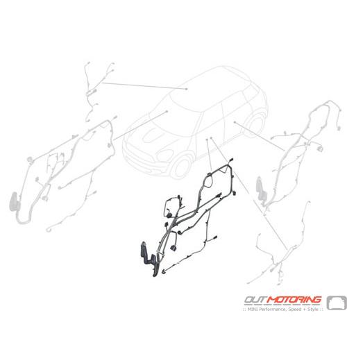 61129338910 MINI Cooper Replacement Door Wiring: Left