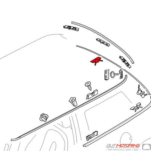 51317111934 Mini Cooper Replacement Parts Clip 51317113200