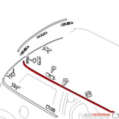 Mini Cooper Suspension Diagram 1992 Toyota Pickup Wiring 2006 S Parts Diagrams 51137112080 Replacement Roof Molding Right Rh Outmotoring Com 2005