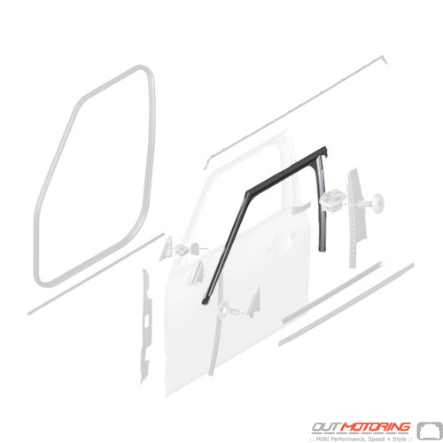 51337344163 Mini Cooper Replacement Parts Window Guide