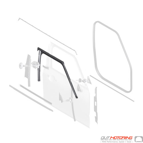 51337344164 Mini Cooper Replacement Parts Window Guide