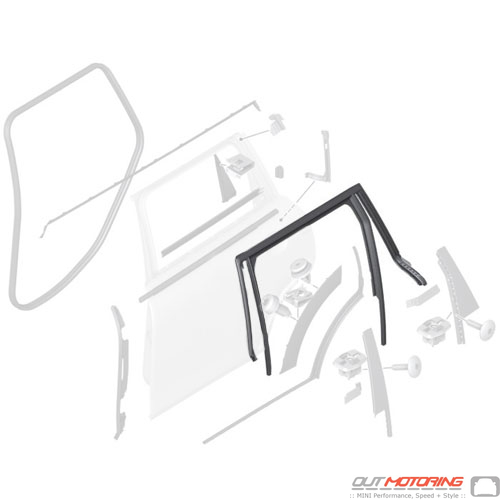 51357344165 Mini Cooper Replacement Parts Window Guide
