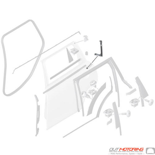 51357421071 Mini Cooper Replacement Parts Window Guide