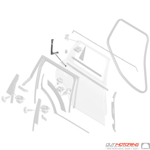 51357421072 Mini Cooper Replacement Parts Window Guide