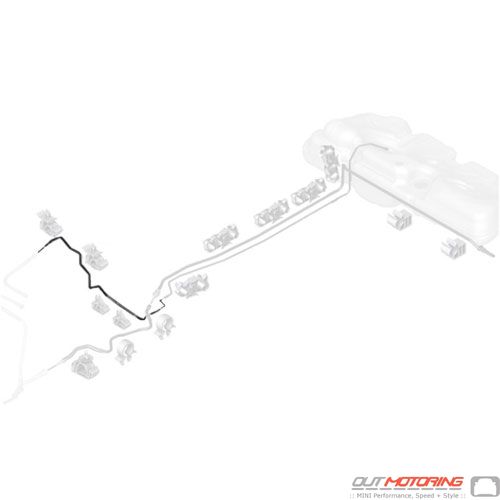 16127386524 Mini Cooper Replacement Parts Fuel Feed Line