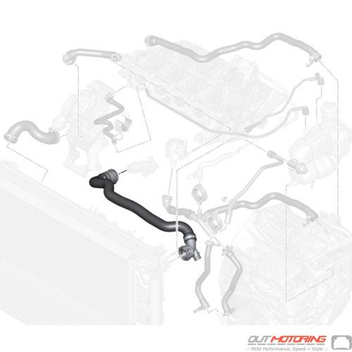 17127617363 MINI Cooper Replacement Hose: Radiator-Engine