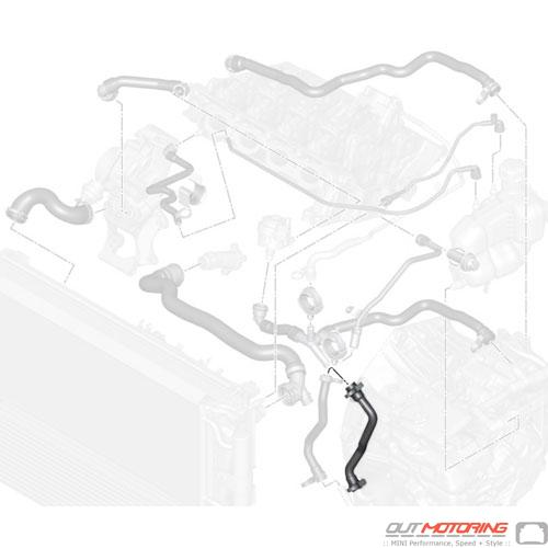 17127617373 MINI Cooper Replacement Hose: Transmission Oil