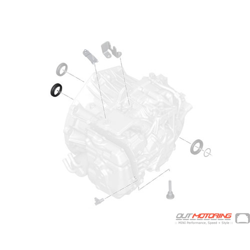 24278627784 MINI Cooper Replacement Shaft Oil Seal