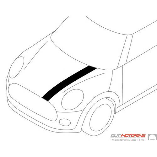 51147365185 MINI Cooper Replacement Ornamental Stripes