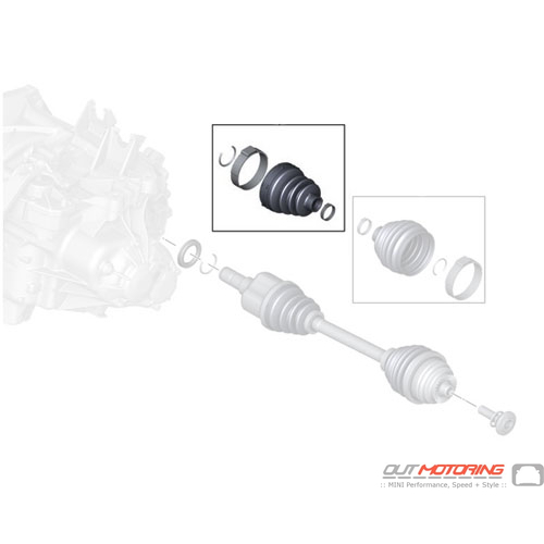 31608618551 MINI Cooper Replacement Repair Kit Bellows