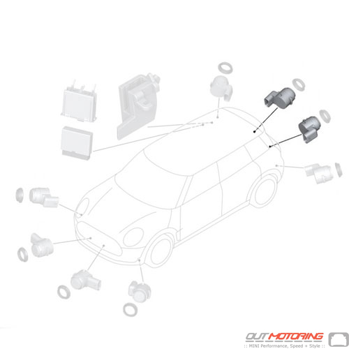 66209336912 Mini Cooper Replacement Parts Ultrasonic