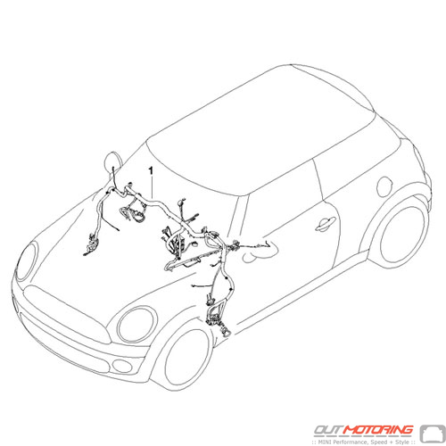 61119377742 Mini Cooper Replacment Parts Wiring Harness