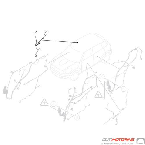 61126809537 Mini Cooper Replacement Parts Door Wiring