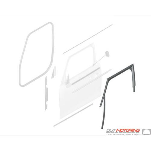 51334828969 MINI Cooper Replacement Trim: Window Guide