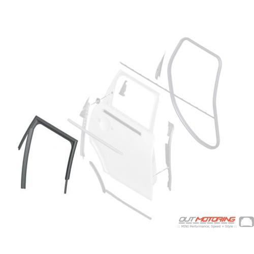 51354828972 MINI Cooper Replacement Trim: Window Guide