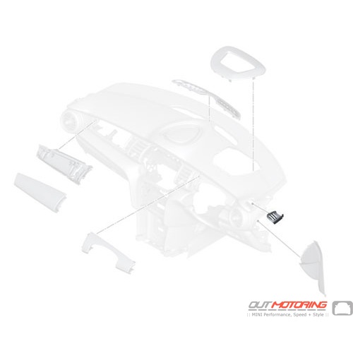 51459288926 MINI Cooper Replacement Cover: Side Window