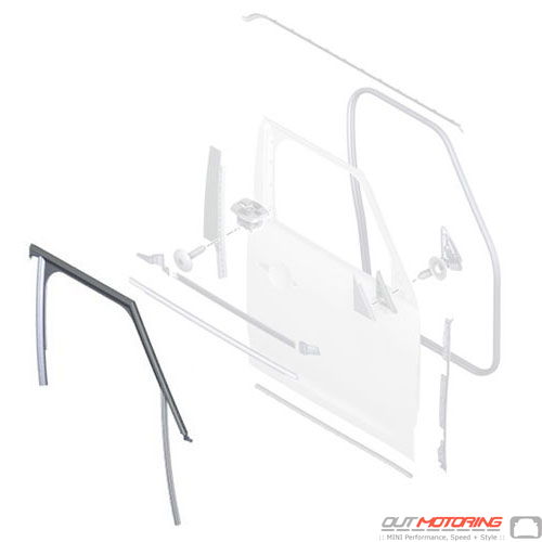 51337390094 Mini Cooper Replacement Parts Window Guide