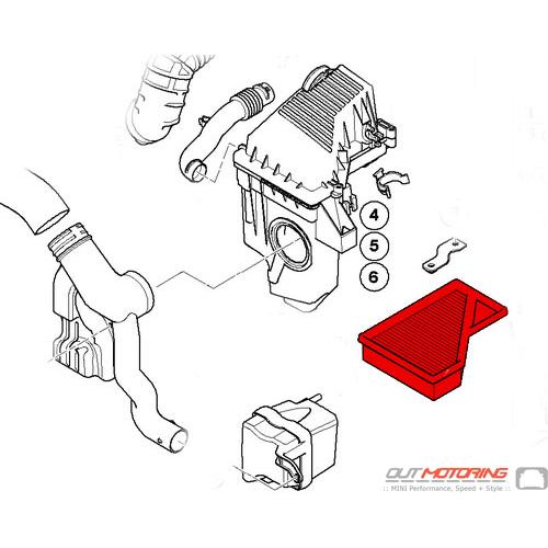 Mahle MINI Cooper Air Filter 13727529264 Manual