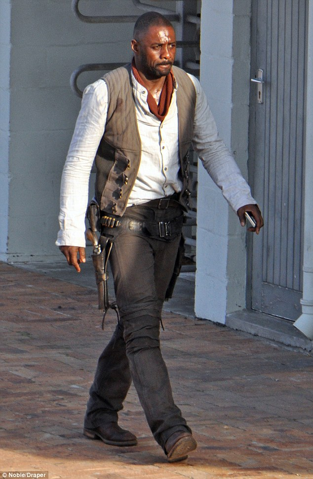 Idris with his traditional western mobile device