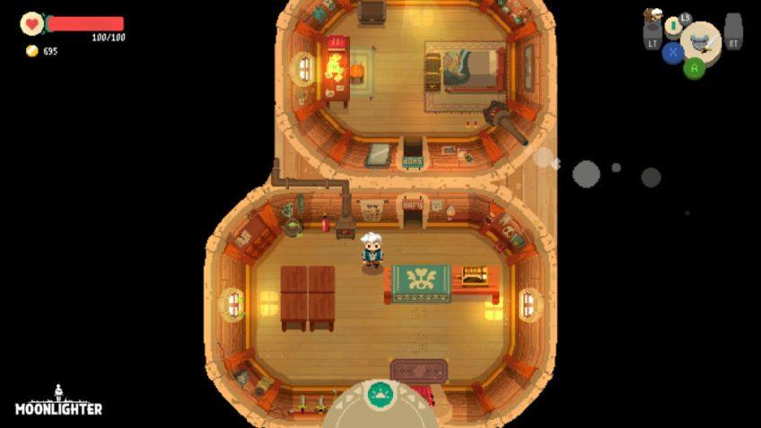 Moonlighter Shop Inside