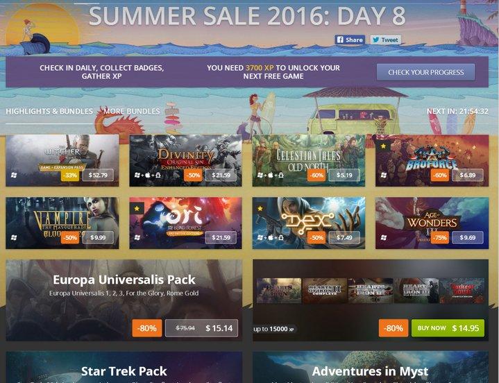 GOG Summer Sale 2016 – Out Of Lives