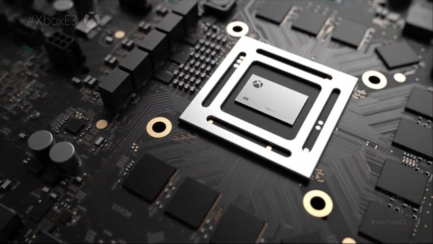 Promotional picture from the public reveal of Project Scorpio at E3 2016