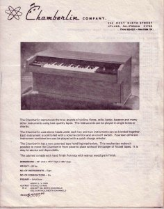 Chamberlin M1 brochure