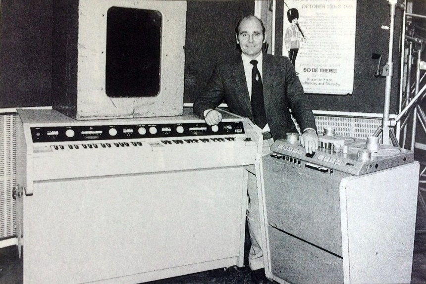 Ken Townsend with the Abbey Road FX Console