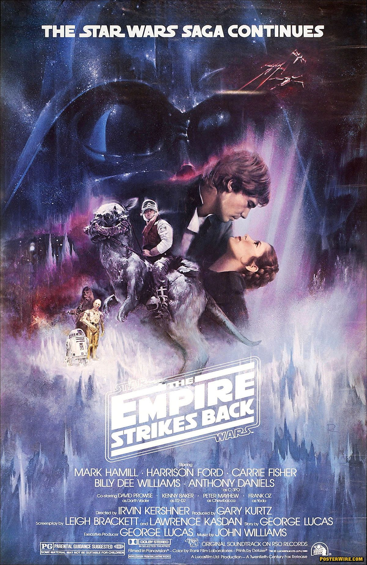 The movie poster for Star Wars: Episode V - The Empire Strikes Back
