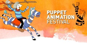 Image depicts the 2013 logo for the Puppet Animation Festival, from Puppet Animation Scotland.