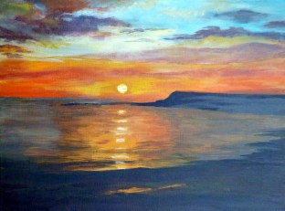 Summer Sunset in Orkney 40 cm x 31 cm SOLD