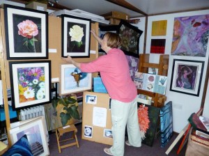 Me putting finishing touches to my studio.