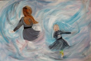 """""""Swirl"""" Acrylic on stretched canvas 3ft x 2ft NFS"""