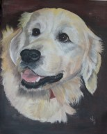 """TOBY"" Acrylic on stretched canvas. SOLD"