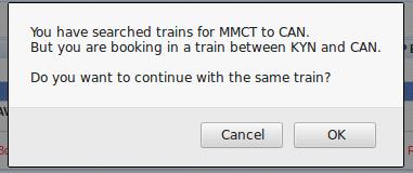 Station mismatch notice