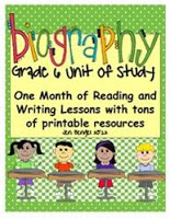 I Just Posted a Biography Unit for Grades 3, 4, 5, and 6!