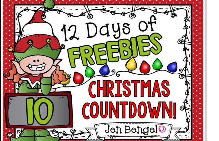12 Days of Freebies: Day 10 AND Half Off!
