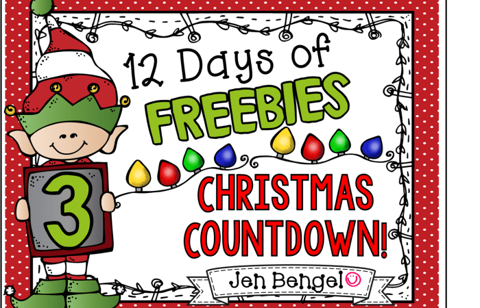 12 Days of Freebies: Day 3 AND Half Off!