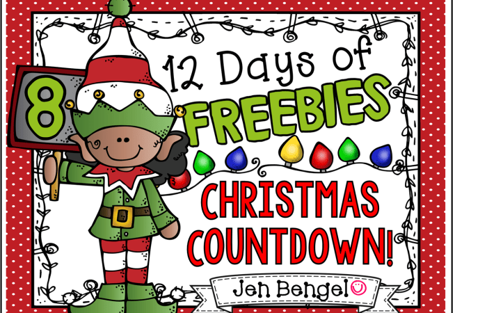 12 Days of Freebies: Day 8 AND Half Off!