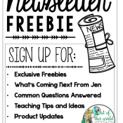 Sign Up for the Newsletter for Exclusive Freebies!